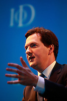 .Institute of Directors Annual Convention 2010..George Osborne MP speaking at the convention....