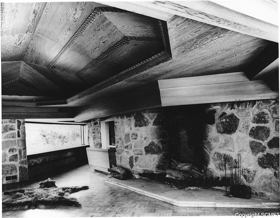 1960s Interior of the pool house & pool, designed by Frank Wright, located in Runyon Canyon, was owned by Huntington Hartford.