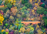 Biplane from above