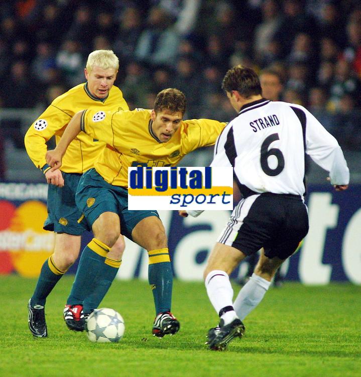 Football, Champions League, 23. oktober 2001. Rosenborg-Celtic 2-0. Stilian Petrov, Celtic.