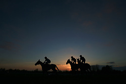 Horses in the 32Red On The App Store Open Hunters' Chase at Market Rasen Racecourse