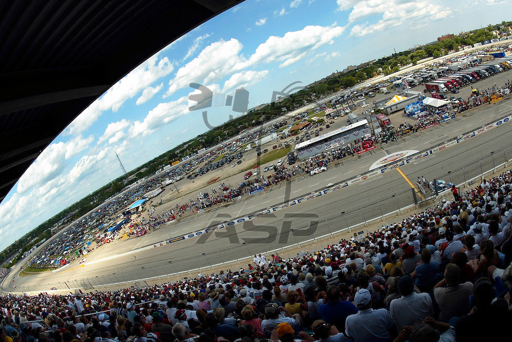 The GNC Live Well 250 NASCAR Busch Grand National race at the Milwaukee Mile in West Allis, WI.