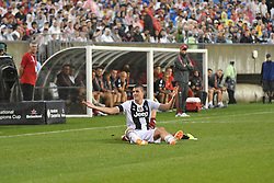 July 25, 2018 - Philadelphia, PA, U.S. - PHILADELPHIA, PA - JULY 25: Juventus forward Andrea Favilli (42) reacts after a slide tackle during a International Champions Cup match between Juventus and FC Bayern Munich on July 25,2018, at Lincoln Financial Field in Philadelphia,PA. Juventus won 2-0. (Photo by Andy Lewis/Icon Sportswire) (Credit Image: © Andy Lewis/Icon SMI via ZUMA Press)