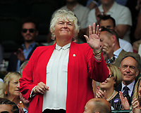 Tennis - 2019 Wimbledon Championships - Week One, Saturday (Day Six)<br /> <br /> Mens Singles, 3rd Round <br /> Sports Men and Women in the Royal Box on Centre Court<br /> <br /> Ex Female Golfer, Laura Davies<br /> <br /> COLORSPORT/ANDREW COWIE