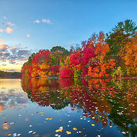 New England fall foliage peak colors at the Sudbury Reservoir in Central Massachusetts. <br /> <br /> Massachusetts fall foliage photos are available as museum quality photo, canvas, acrylic, wood or metal prints. Wall art prints may be framed and matted to the individual liking and interior design decoration needs:<br /> <br /> https://juergen-roth.pixels.com/featured/sudbury-reservoir-juergen-roth.html<br /> <br /> Good light and happy photo making!<br /> <br /> My best,<br /> <br /> Juergen