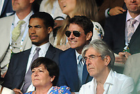 Lawn Tennis - 2021 All England Championships - Men's Final Sunday - Wimbledon - Novak Djokovic  v Matteo Berrettini on Centre Court<br /> <br /> American Actor Tom Cruise watches the match on Centre Court<br /> <br /> Credit : COLORSPORT / Andrew Cowie