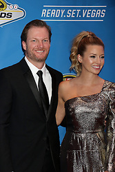 Dale Earnhardt Jr., Amy Reimann attending the 2016 NASCAR Sprint Cup Series Awards