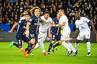 David LUIZ / Jose Luis PALOMINO - 28.04.2015 - Paris Saint Germain / Metz - Match en retard - 32eme journee Ligue 1<br />Photo : Nolwenn Le Gouic / Icon Sport