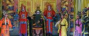 Sai Yong Hong Chinese opera troupe perform at Sai Si Muen chinese temple near Damnoensaduak