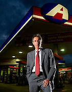 Belo Horizonte_MG, Brasil...Sergio Cavalieri, presidente do conselho da Ale combustiveis, em posto da empresa...Sergio Cavalieri, He is the council president of the Ale, He is in the gas station. ..Foto: LEO DRUMOND / NITRO.