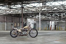 Trevor Kelly's 1955 custom Harley-Davidson Panhead after the Congregation Show. Charlotte, NC. USA. Sunday April 15, 2018. Photography ©2018 Michael Lichter.