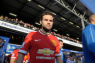 Juan Mata of Manchester United enters the pitch before k/o. Barclays Premier league match, Queens Park Rangers v Manchester Utd at Loftus Road in London on Saturday 17th Jan 2015. pic by John Patrick Fletcher, Andrew Orchard sports photography.