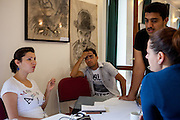 Barvalipe: The 2nd Roma Pride Summer Camp for young Roma from Central and Eastern Europe at Szentendre Island near Budapest, Hungary. Evaluation meeting of the Barvalipe participants and their supervisors.