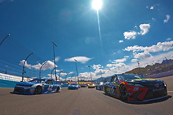 March 11, 2018 - Avondale, Arizona, United States of America - March 11, 2018 - Avondale, Arizona, USA: Martin Truex, Jr (78) and Kyle Larson (42) lead the field to the green flag to start the Ticket Guardian 500(k) at ISM Raceway in Avondale, Arizona. (Credit Image: © Chris Owens Asp Inc/ASP via ZUMA Wire)