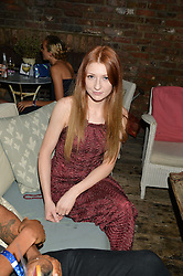 NICOLA ROBERTS at the Warner Music Group & GQ Summer Party held at Shoreditch House, Ebor Street, London on 17th July 2014.