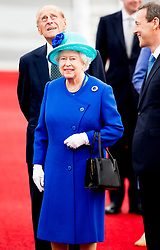 Buckingham Palace has announced Prince Philip, The Duke of Edinburgh, has passed away age 99 - FILE - Queen Elizabeth II and the Duke of Edinburgh arrive at Berlin Tegel airport for the start of their four-day state visit to Germany. Tuesday June 23, 2015. During the tour the Queen and Duke will be guests of honour at a state banquet, travel to the Bergen-Belsen prisoner of war and concentration camps and hold a private meeting with Chancellor Angela Merkel. Photo by Robin Utrecht/ABACAPRESS.COM