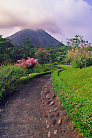 View from the Arenal Volcano Observatory Lodge with the Arenal Volcano in the background, Costa Rica