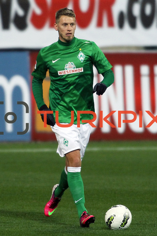 Werder Bremen's Aaron Hunt during their Tuttur.com Cup matchday 2 soccer match Trabzonspor between  Werder Bremen at Mardan stadium in AntalyaTurkey on 07 Monday January, 2013. Photo by Aykut AKICI/TURKPIX