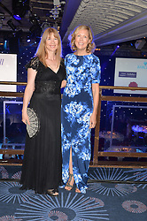 Left to right, RUTH SULLIVAN and JULIET HERD and guest at The Butterfly Ball in aid of Caudwell Children held at the Grosvenor House, Park Lane, London on 25th June 2015