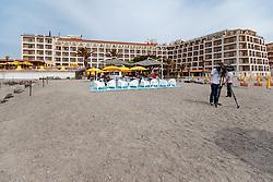 25.05.2017, Giardini Naxsos, ITA, 43. G7 Gipfel in Taormina, im Bild Aussenansicht Hilton Hotel, hier ist auch das Pressecenter untergebracht. // Exterior Hilton hotel here is also the pressecenter before the 43rd G7 summit in Giardini Naxsos, Italy on 2017/05/25. EXPA Pictures © 2017, PhotoCredit: EXPA/ Johann Groder