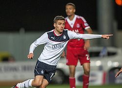 Falkirk's Luke Leahy. Falkirk 0 v 5 Aberdeen, the third round of the Scottish League Cup.<br /> ©Michael Schofield.