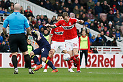 Middlesbrough defender Aden Flint (24)  during the EFL Sky Bet Championship match between Middlesbrough and Derby County at the Riverside Stadium, Middlesbrough, England on 27 October 2018.