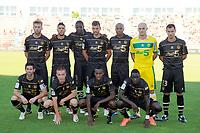 FOOTBALL - FRENCH CHAMPIONSHIP 2012/2013 - L2 - TOURS FC v FC NANTES - 17/08/2012 - PHOTO JEAN MARIE HERVIO / REGAMEDIA / DPPI - TEAM NANTES ( BACK ROW LEFT TO RIGHT: LUCAS DEAUX / GABRIEL CICHERO / PAPY MISON DJILOBODJI / FILIP DJORDJEVIC / FABRICE PANCRATE / REMY RIOU / YOHAN EUDELINE. FRONT ROW: OLIVIER VEIGNEAU / ADRIEN TREBEL / BIRAMA TOURE / ISSA CISSOKHO )
