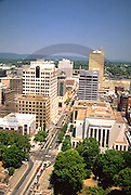 Harrisburg, PA, Downtown, Market Street Aerial, Harrisburg Pennsylvania Skyline