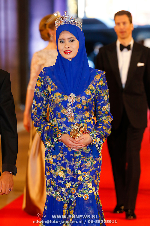 NLD/Amsterdam/20130429- Afscheidsdiner Konining Beatrix Rijksmuseum,  Billah and his wife princess Sarah of Brunei