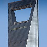 Shanghai World Financial Centre skyscraper tower (Shanghai, China - Sep. 2008) (Image ID: 080927-1654421a)