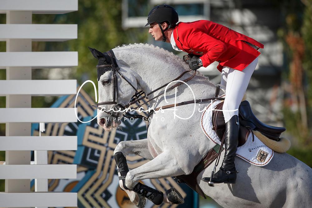 Deusser Daniel, (GER), Cornet D Amour <br /> First Round<br /> Furusiyya FEI Nations Cup Jumping Final - Barcelona 2015<br /> © Dirk Caremans<br /> 24/09/15
