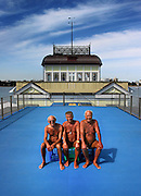 """Pier Boys, St Kilda pier, Melbourne (cover for the book """"Same Place, Different Face"""""""