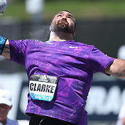 Jordan Clarke, USA, in action in the Men's Shot Put Competition during the Diamond League Adidas Grand Prix at Icahn Stadium, Randall's Island, Manhattan, New York, USA. 13th June 2015. Photo Tim Clayton