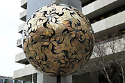 Crann an Oir, Tree of Gold, sculpture artwork, Central Bank of Ireland,  Dublin, Ireland, Irish Republic by Eamonn O'Doherty 1991
