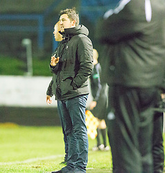 Cowdenbeath's manager Liam Fox. Cowdenbeath 3 v 4 Forfar Athletic, Scottish Football League Division Two game played 17/12/2016 at Central Park.