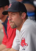 ATLANTA - JUNE 28:  Pitcher John Smoltz #29 of the Boston Red Sox watches the action on the field during the game against the Atlanta Braves at Turner Field on June 28, 2009 in Atlanta, Georgia.  The Braves beat the Red Sox 2-1.  (Photo by Mike Zarrilli/Getty Images)