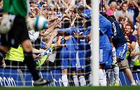 Photo: Richard Lane/Sportsbeat Images. <br />Chelsea v Birmingham. Barclay's Premiership. 12/08/2007. <br />Chelsea celebrate a goal by Michael Essien.