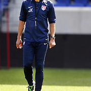 Head Coach Jurgen Klinsmann during the New York Red Bulls Vs Portland Timbers, Major League Soccer regular season match at Red Bull Arena, Harrison, New Jersey. USA. 24th May 2014. Photo Tim Clayton
