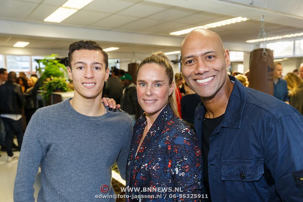 NLD/Hilversum/20180114 - opening Personal Power Gym Hilversum, Mark Dakriet, partner Sakia en zoon Eja