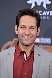 Paul Rudd attends the World Premiere of Avengers: Infinity War on April 23, 2018 in Los Angeles, California. Photo by Lionel Hahn/ABACAPRESS.COM