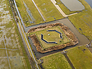 Nederland, Zuid-Holland, Gemeente Leiderdorp, 20-02-2012; Boortunnel onder het Groene Hart van de hogesnelheidslijn (HSL-Zuid), Polder Achthoven met luchtschacht van de tunnel die de drukgolf van de treinen opvangt. .Drilled tunnel of the High Speed ​​Line (HSL) under so-called the Green Heart, with the air shaft of the tunnel that enables the pressure wave of the trains to escape..luchtfoto (toeslag), aerial photo (additional fee required).copyright foto/photo Siebe Swart