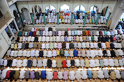 June 16, 2017 - Allahabad, Uttar Pradesh, India - Muslims offer prayer on the occasion of 3rd Friday of Ramadan at a mosque in Allahabad. (Credit Image: © Prabhat Kumar Verma/Pacific Press via ZUMA Wire)
