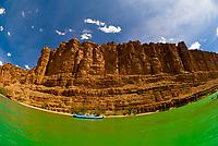 Grand Canyon whitewater rafting trip in Marble Canyon, Glen Canyon National Recreation Area, Colorado River, Arizona USA