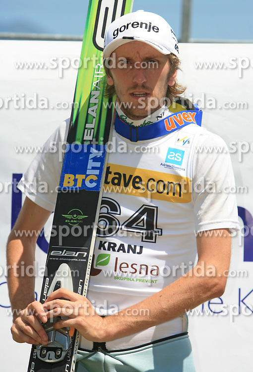 Primoz Pikl of Slovenia placed third at FIS Continental cup Ski-jumping Summer Kranj, on July 6, 2008, Kranj, Slovenia. (Photo by Vid Ponikvar / Sportal Images)<br /> <br /> / Sportida)