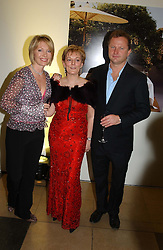 Left to right, KIRSTY YOUNG, JO MALONE and NICK JONES<br /><br />at a party to celebrate the 10th anniversary of Jo Malone the perfumer held at The Banquetting House, Whitehall, London on 21st October 2004.<br /><br /><br /><br />NON EXCLUSIVE - WORLD RIGHTS