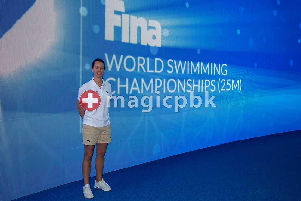 Swiss Swimming Osteopath Nicola POULSEN of Switzerland is pictured during a training session prior to the start of the 14th Fina World Short Course Swimming Championships in Hangzhou, China, Sunday, Dec. 9, 2018. (Photo by Patrick B. Kraemer / MAGICPBK)