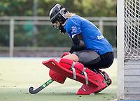 UTRECHT - Alexandra Heerbaart (Kampong) , tijdens de hoofdklasse hockeywedstrijd tussen de vrouwen van Kampong en MOP (3-2). COPYRIGHT KOEN SUYK