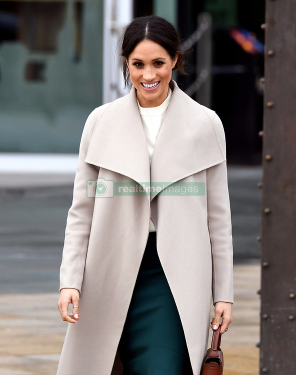 Meghan Markle during a visit to the Titanic Belfast maritime museum in Belfast