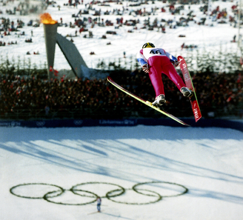 Ski jump competition, Winter Olympics, Lillehammer, Norway