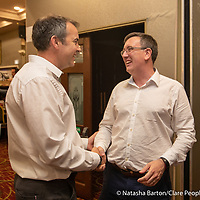 John Wolfe congratulates Ian Lynch